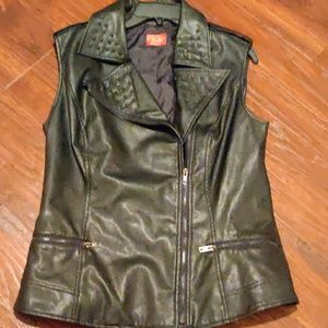V Christina Best Leather Jacket in Black
